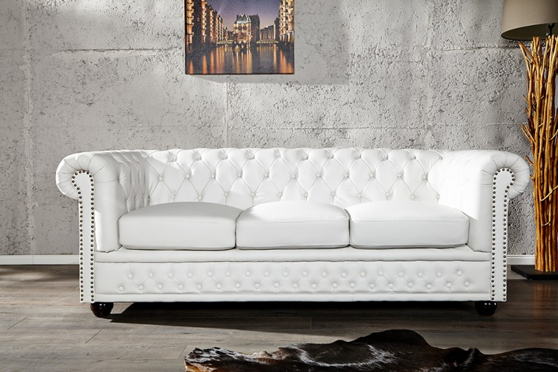 Sofa Chesterfield III white