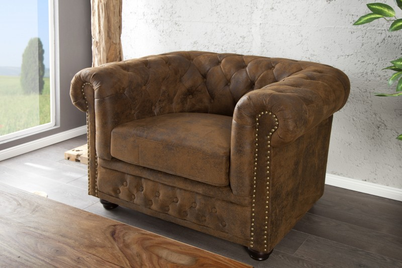 Fotel Chesterfield Antik Look I - i17383