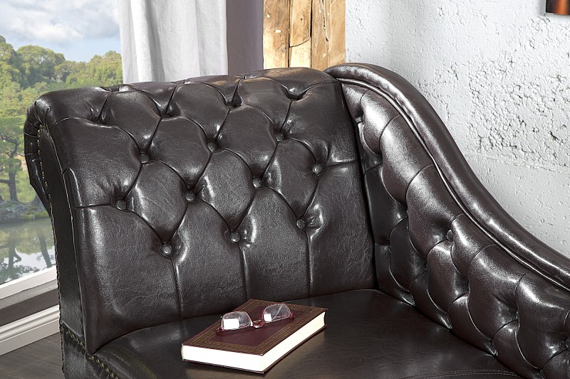 Leżanka Chesterfield Coffee