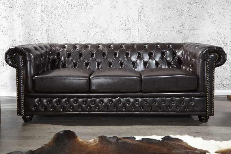 Sofa Chesterfield III Dark Coffee