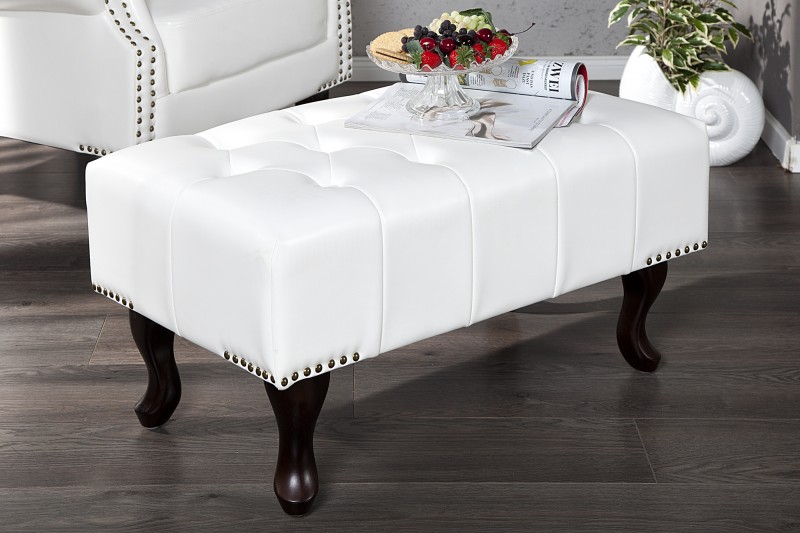 Podnóżek Chesterfield White