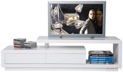 Stolik pod telewizor TV Club White Loft 2 Drawers
