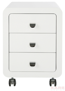 Szafka White Club Storage Container 3 Drawers