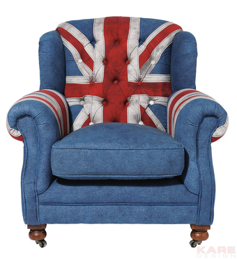 Fotel Grandfather Union Jack