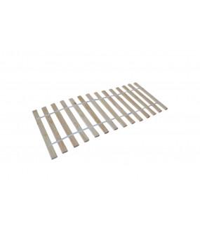 Stelaż  do łóżka o wymiarach 90 cm x 200 cm wykonany z naturalnego drewna sosnowego.