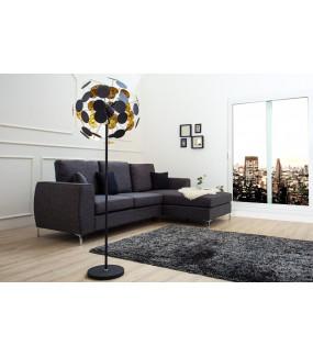 Lampa podłogowa Nieskończoność 170 cm Czarne złoto