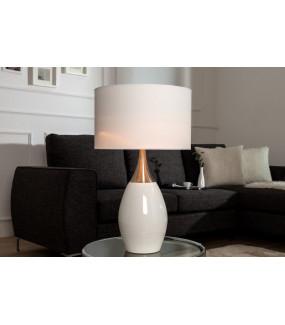 Lampa stołowa Carla 60cm biała