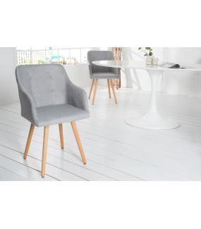 Krzesło z podłokietnikiem Scandinavia Armlehne jasnoszare