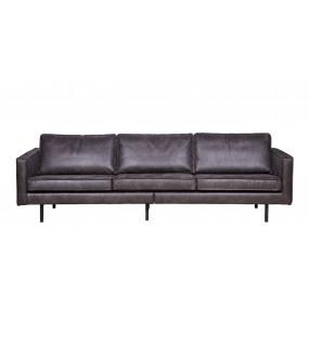 Sofa Rodeo Czarna 3-osobowa