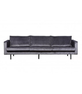 Sofa Rodeo 3-osobowa aksamitna szara