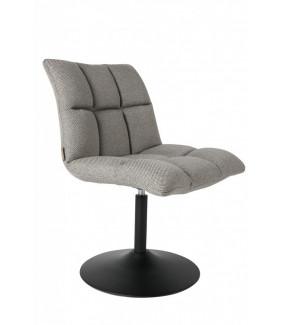Krzesło Obrotowe Mini Bar Jasnoszare