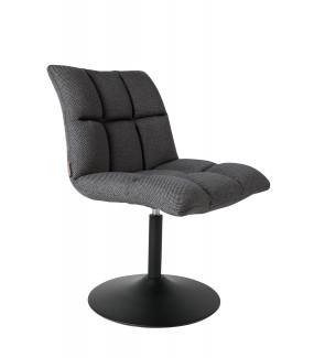 Krzesło Obrotowe Mini Bar Ciemnoszare