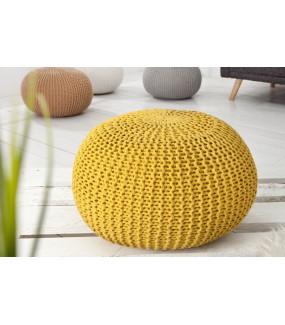 Pufa Leeds 50 cm żółta