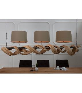 Lampa Wisząca Vigine 160 cm z Drewna z Recyklingu