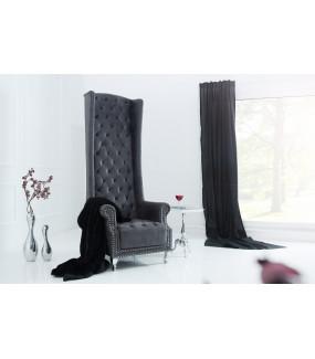 Fotel Royal Chair antyczny szary