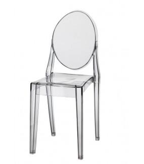 Krzesło Viki inspirowane Victoria Ghost transparentne