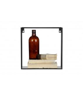 Zestaw dwóch praktycznych półek ściennych do nowoczesnego pokoju lub industrialnego salonu.