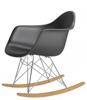 Krzesło bujane inspirowane RAR czarne