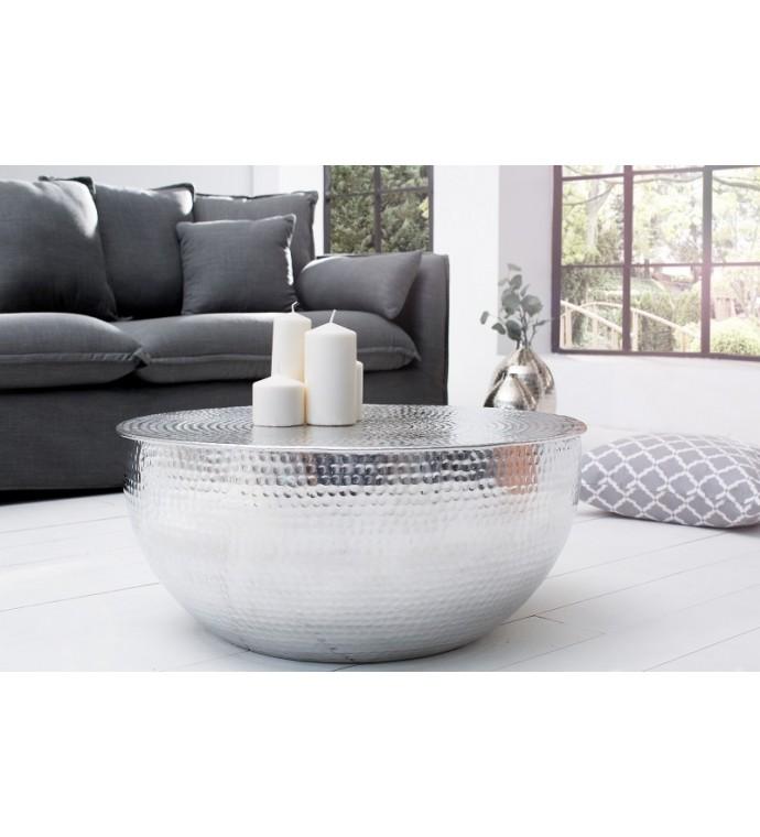 Stolik kawowy Orient srebrny