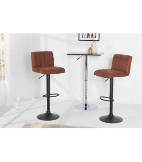 Krzesło barowe PORTLAND antyczny brąz