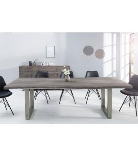 Stół Maamut 200 cm drewno akacja w kolorze szarym