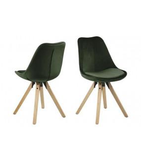 Krzesło Dima VIC ciemnozielone