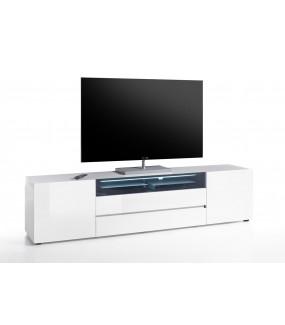 Stolik pod TV VICENZA 200 cm biała