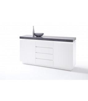 Komoda ATLANTA 150 cm biała z optyką betonu