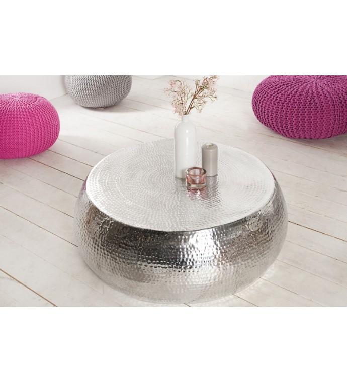 Stolik kawowy Orient 80cm srebrny