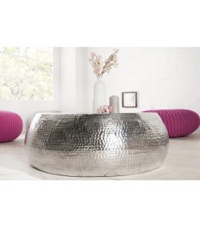 Elegancki stolik kawowy w kolorze srebrnym