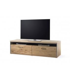 Stolik pod TV ESPERO 184 cm dąb sękaty olejowany w kolorze bianco