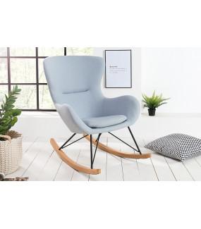 Fotel bujany Scandinavia Swing jasnoniebieski do salonu