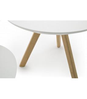 Zestaw 3 białych stolików