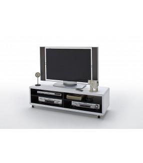 Stolik pod TV JEFF II 120cm biało czarny