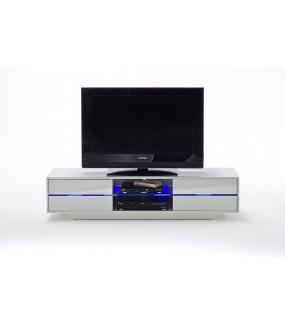 Stolik pod TV BLUES 160cm biały z podświetleniem