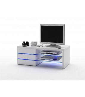 Stolik pod TV SONIA 110 cm biały z podświetleniem