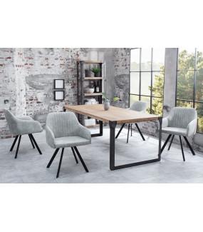 Krzesło Lucca jasnoszare do salonu