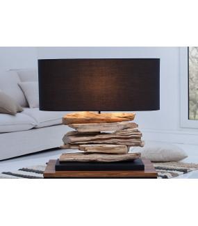 Lampa stołowa Driftwood Riverine II czarna