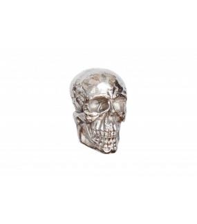 Rzeźba ścienna Skull 40cm srebrna