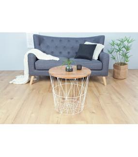 Stolik kawowy Storage 52 cm biała akacja