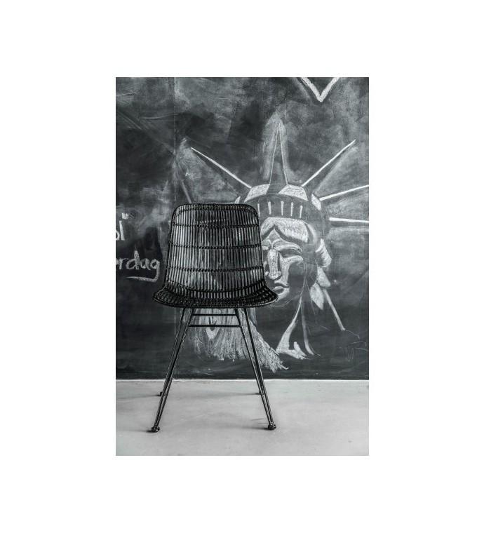 Krzesło Rattanowe Czarne