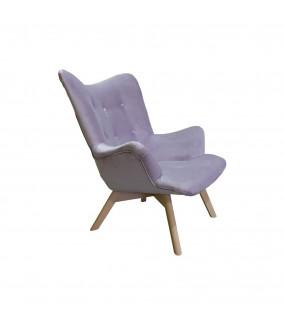 Fotel Angello Prestige pastelowy fiolet aksamit