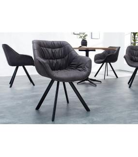 Krzesło designerskie Dutch Comfort antyczne ciemnoszare