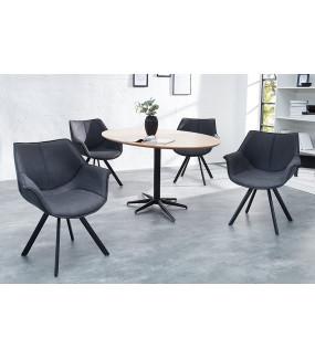 Krzesło Holenderski Retro antyczne szare