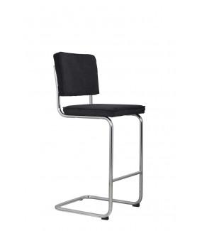 Krzesło barowe Ridge Rib czarne