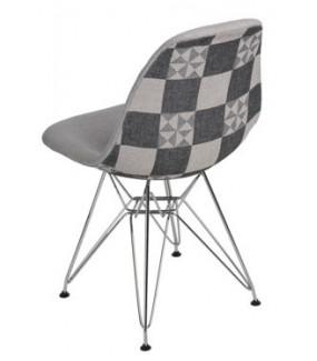 Krzesło P016 Pattern inspirowane DSR  jasnoszare