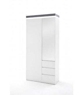 Szafa ATLANTA biała z optyką betonu