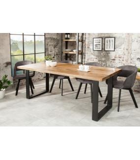 Stół Iron Craft 200 cm Mango do salonu w stylu industrialnym