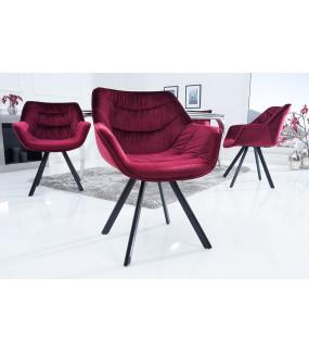 Krzesło designerskie The Dutch Comfort aksamitna czerwień