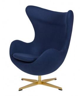 Fotel EGG CLASSIC GOLD atlantycki niebieski